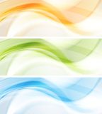 Colourful waves vector banners Royalty Free Stock Image