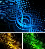 Colourful wavy backgrounds Stock Image