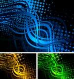 Colourful wavy backgrounds Stock Image