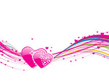 Colourful weave heart design-vector. This is a Romantic pink design Royalty Free Stock Photo