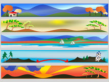 Colourful Web Banners Stock Images