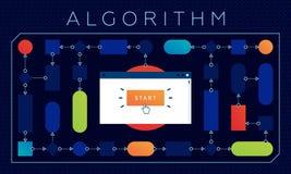Colourful wektorowa ilustracja algorithmic rozwiązanie fotografia royalty free