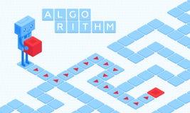Colourful wektorowa ilustracja algorithmic rozwiązanie zdjęcia stock