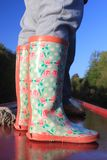 Colourful wellington boots Stock Image