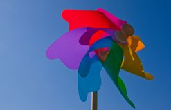 Colourful wind wheel Stock Images