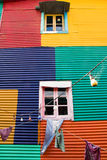 Colourful window in La Boca Stock Photo