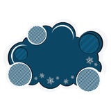 Colourful winter banner with snowflakes Stock Photo