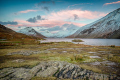 Colourful winter evening at Wastwater, Lake District Stock Photography