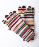 Colourful winter gloves royalty free stock image