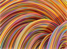 Colourful wires. Colourful rolls of thin wires Vector Illustration