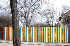 Colourful wood fence Stock Photos