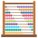 Colourful wooden abacus on white backgroud. Illustration stock illustration