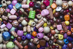 Colourful Wooden Beads Stock Photo