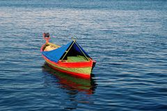 Colourful Wooden Fishing Boat Stock Photography