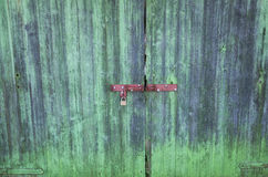 Colourful wooden gate Royalty Free Stock Images
