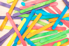 Colourful wooden ice cream stick background Royalty Free Stock Photos
