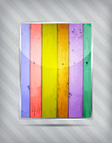 Colourful wooden icon Stock Images
