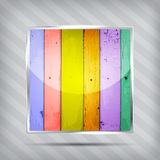Colourful wooden pattern icon Royalty Free Stock Photography