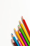 Colourful wooden pencils Royalty Free Stock Photos