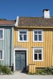 Colourful wooden residential street houses Bakklandet Trondheim Royalty Free Stock Images