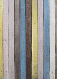 Colourful Wooden Wall. Stripes colorful of the wooden wall of a bar Stock Photos