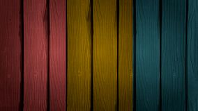 Colourful wooden wall Stock Photography