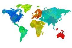 Colourful world map Stock Photo