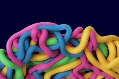 Colourful plasticine Stock Photos