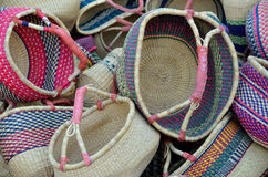 Colourful Woven Baskets  Royalty Free Stock Photos