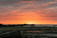 Colourful wschód słońca nad morzem fotografia stock