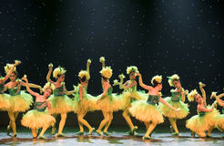 Colourful-Yellow chicks -Children dance Stock Images