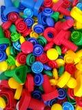 Colourful zabawki dla szczęśliwych dzieciaków obraz stock