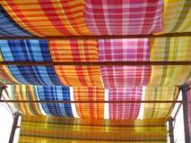 Colourfull泰国丝绸 免版税图库摄影