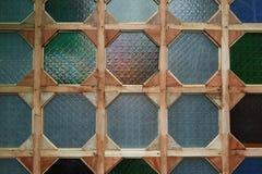 Colourfull玻璃墙 免版税库存图片
