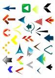 Colourfull 2009 das setas ilustração do vetor