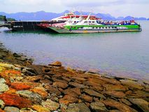 Colourfull船 图库摄影