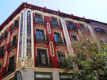 Colourfull apartment building in Madrid Royalty Free Stock Image