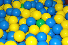 Colourfull balls. Lots of playing balls stock images