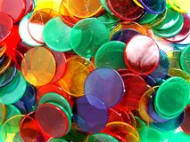Colourfull Counters Stock Images