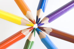 Colourfull crayons Royalty Free Stock Images