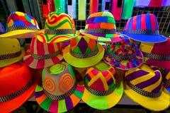 Colourfull e chapéus brilhantes para nightparty fotografia de stock royalty free