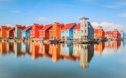 Colourfull-Häuser Stockfotos