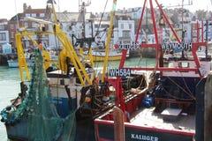 Colourfull-Hafen-Boote Stockfotos