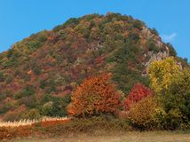 Colourfull hill Royalty Free Stock Images