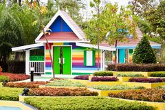 Colourfull home and garden Stock Images