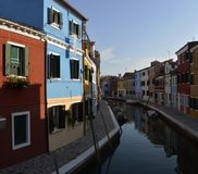 Colourfull houses in Burano Royalty Free Stock Image