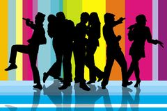 Colourfull Karaoke party Royalty Free Stock Photos