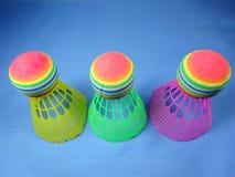 Colourfull klingerytu shuttlecocks Obrazy Royalty Free
