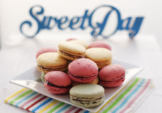 Colourfull macaroons Stock Photography