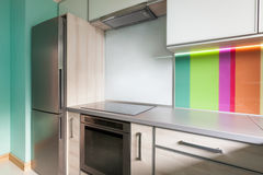Colourfull modern kitchen Stock Images